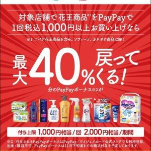 【お得キャンペーン】PayPayで花王製品が40%還元!近所のドラッグストアでお買い物しました♪