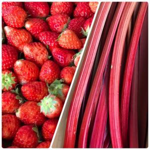 夏イチゴとルバーブの真っ赤なジャム