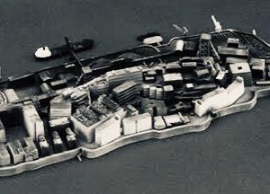 軍艦島のプラモデル