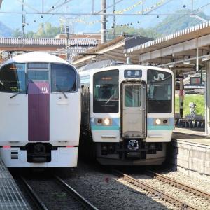 富士急 大月駅へ