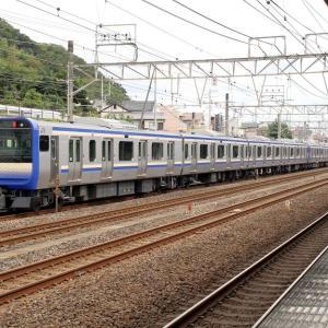 国府津で横須賀線用新車