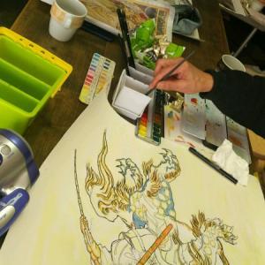 奈良クラスの模写進捗。