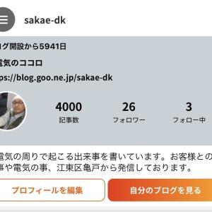 ブログが4000記事になりました。