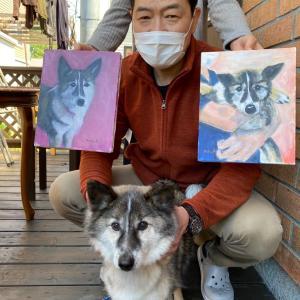 『銀ボーの肖像画をいただきに🐕』