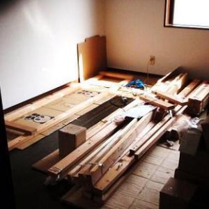 ●大型の材料収納棚の移築が完了しました。
