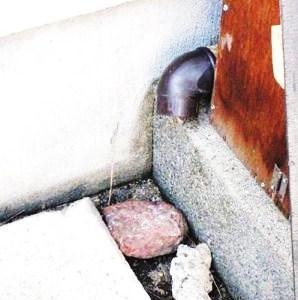 ●台風に備えて雨水の排水を改善