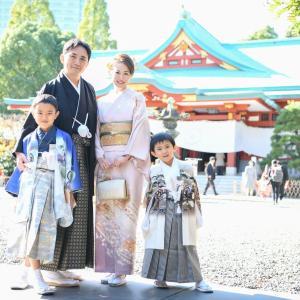 日枝神社(赤坂)の兄弟で七五三!