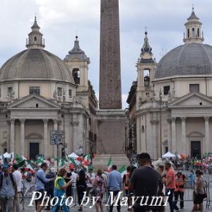 ポポロ広場の政治的集会。