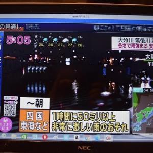 九州の豪雨。