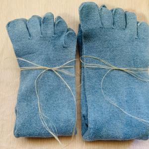 【入荷しました!】能登の三輪福さん手仕事商品 EM ×本建て正藍染のヘンプ靴下
