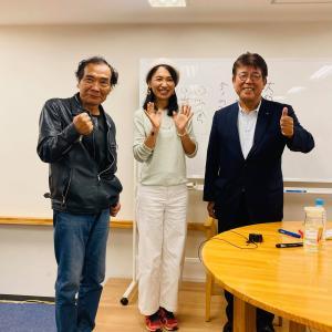 \齊藤新緑さん、船瀬俊介さんとのお話会が終わりました/神楽坂ヒカルランド