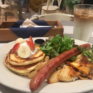 パンケーキとラザニアのカフェランチ♪ #パンケーキ #カフェ #ポケモンGO #立川 #美味しい