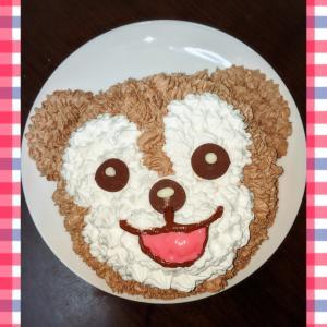12歳の誕生日に作ったくまのケーキ☆