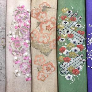 『はぁ~るよ来い♪~春の布あそび~』1/26-追加 新着刺繍半衿②