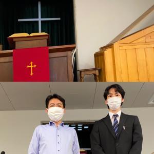 復活の丘のチャペルで、  台湾からの志高き桜美林大学の留学生と会いました。