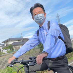 自転車で登庁しました。