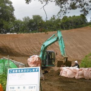 小川町下里 太陽光発電設置工事の土砂流出現場へ