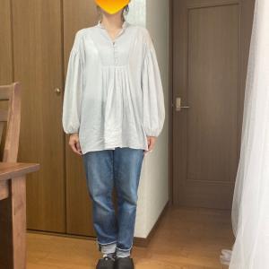 同じ服でも着方で重心を整えてビフォーアフター 骨格診断ウェーブ