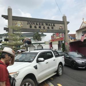 マレーシア旅行⑩、マラッカ、青雲亭寺院、ジョンカンストリート、H&M、オランダ広場、キリスト教会、人力車、マラッカ海峡、セントポール寺院、フランシスコ・ザビエル、サンチャゴ砦