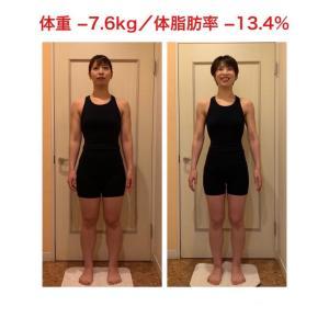 グランプリ賞 体重▲7.6kg 体脂肪▲13.4%