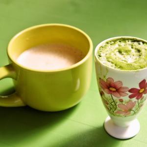 うちカフェdeダーリンが作ってくれた抹茶ラテ