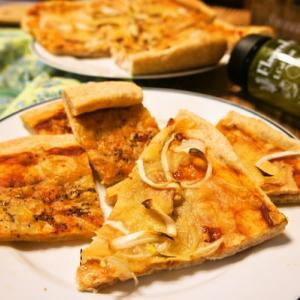 「照り焼きチキンピザ&バジルオイルピザ」deゆーたんの軽食