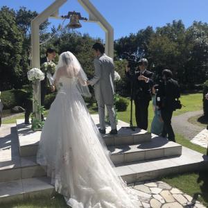 結婚式( ˶ˆ꒳ˆ˵ )