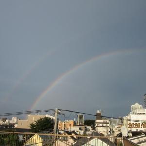 2020.8.13東京で虹が出た……虹立ちて