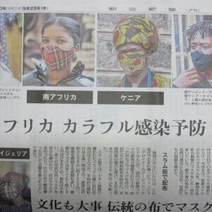純和風伝統的マスク姿になってみた