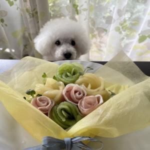 父の日に・・花束みたいなオープンサンド☆