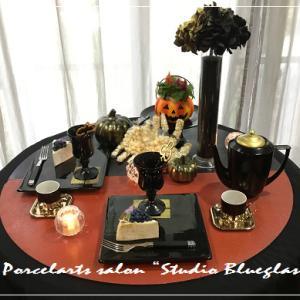 ✻大人のハロウィンティータイムテーブル・・・10月のテーブルコーディネートレッスン