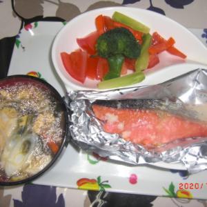 北海道産 鮭の塩麹蒸し