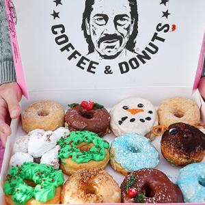Trejo's Coffee and Donuts featuring Christmas Donuts