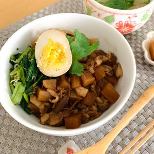 4/26の夜ごはん カルディの魯肉飯の素で簡単美味しい魯肉飯