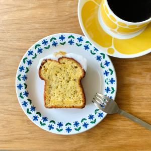 美味しい低糖質のパウンドケーキで朝ごぱん