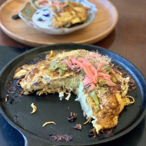 広島風お好み焼き など 昼食写真