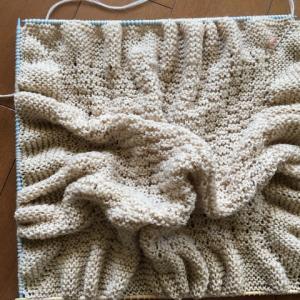編み棒の長さが足りません💧