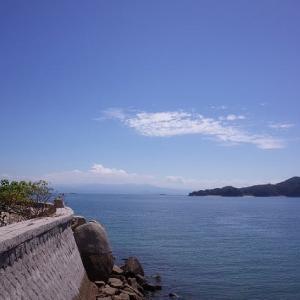 とびしま海道の風景と松茸ご飯の弁当