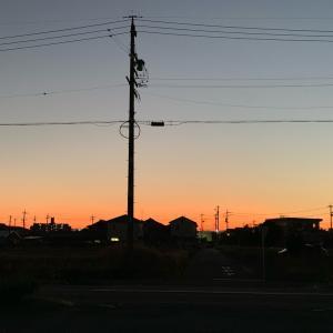 ハロウィンのような夕焼け