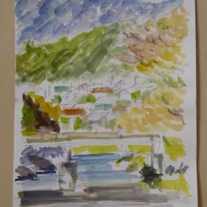 今月の水彩画教室