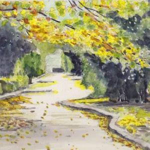 緑道の紅葉