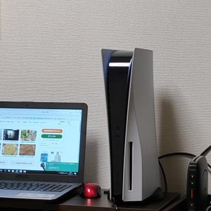 プレステ5とパソコン設置