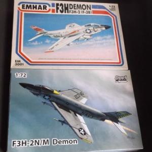 1/72 F3H-2 デモンのキットについて(ゆるーいキットレビュー)