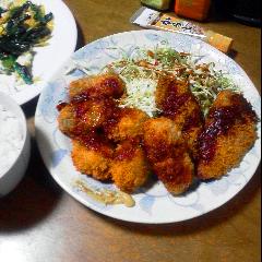 晩飯は大好物なシーフードフライ