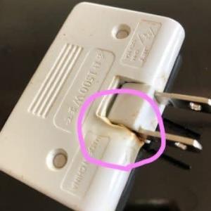 家庭の中の危険物6~電源タップが焦げた溶けた