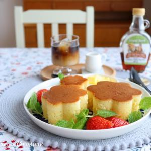 ⋆⋆【おうちカフェ】私史上最高のパンケーキが焼きあがりました(*ˊ˘ˋ*)⋆⋆