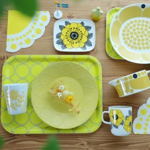 ⋆⋆【scope】スンヌンタイと黄色集めで北欧食器が大集合♡アナベルで花手水⋆⋆