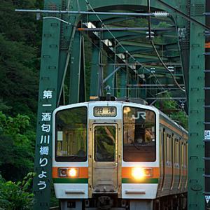 第一酒匂川橋りょうを渡る
