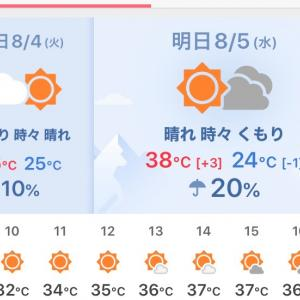 予報が外れて一安心ですが暑かったですね