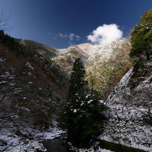 再びの雪景色!@久多